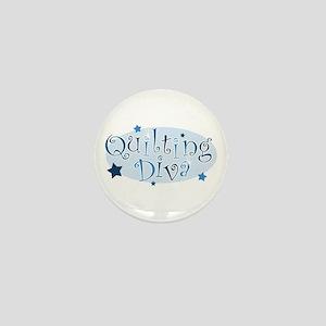 """Quilting Diva"" [blue] Mini Button"